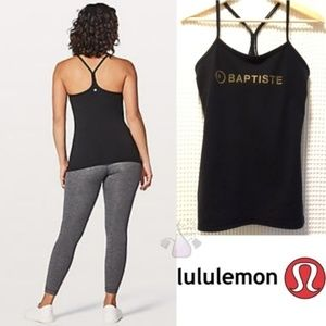Lululemon Power Y Baptiste Tank Black Sz 6